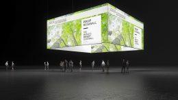 Hinterleuchteter Decken-Banner, Grafikring, Motivring, Messe, Messebau, Messesystem, exhibition, Pixlip