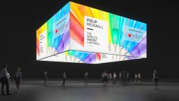 Messe Bannergrafik, Decken-Banner, Grafikring, Motivring, Messe, Messebau, Messesystem, exhibition, Pixlip