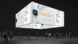 Messe LED-Deckenbanner, Grafik-Ring, Messe-Banner, Deckenring, Decken-Leuchtkasten, Leuchtring, Grafikring, Motivring