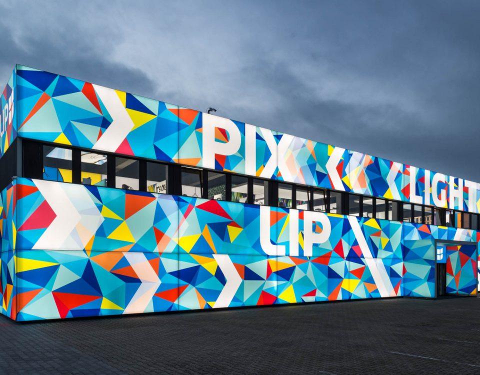 Medienfassaden Leuchtwerbung, Fassadengestaltung