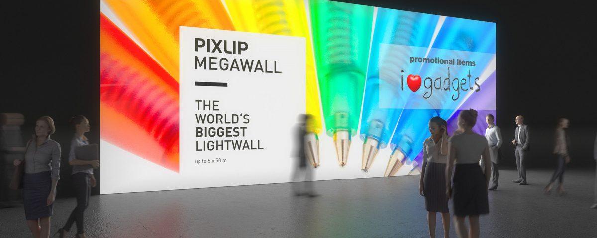 Mega-Leuchtwand