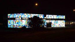 Facades luminous advertising, Furniture store facade, Printed Facade, illuminated facades, Backlight Facade, facade cladding, facade covering, facade design