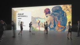 Mega-Mur, Lightwall, mur de salon, mur de lumière, mur lumineux, mur d'exposition, Méga-Wall, système de mur de salon, système pour salon, Pixlip, exposition