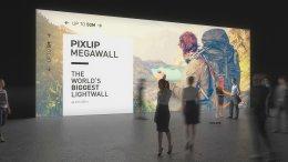 Lightwall, mur éclairé, mur de lumière, mur d'exposition, Lightwall, mur de lumière LED, mur éclairé, mur pour salon, Méga-Wall, système de mur d'exposition, système pour salon, système de mur lumineux, Pixlip, exposition
