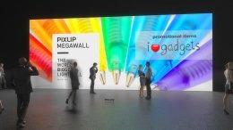 Parete fiera, illuminazione per pareti,parete illuminata, parete espositiva, parente gigante, sistema di pareti per fiere