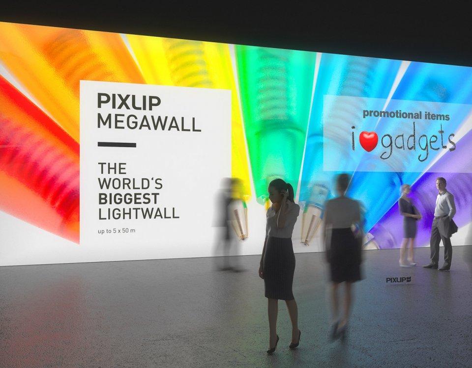 Parete luminosa per fiere, pareti per fiere, parete luminosa a LED, parente gigante, sistema di pareti per fiere