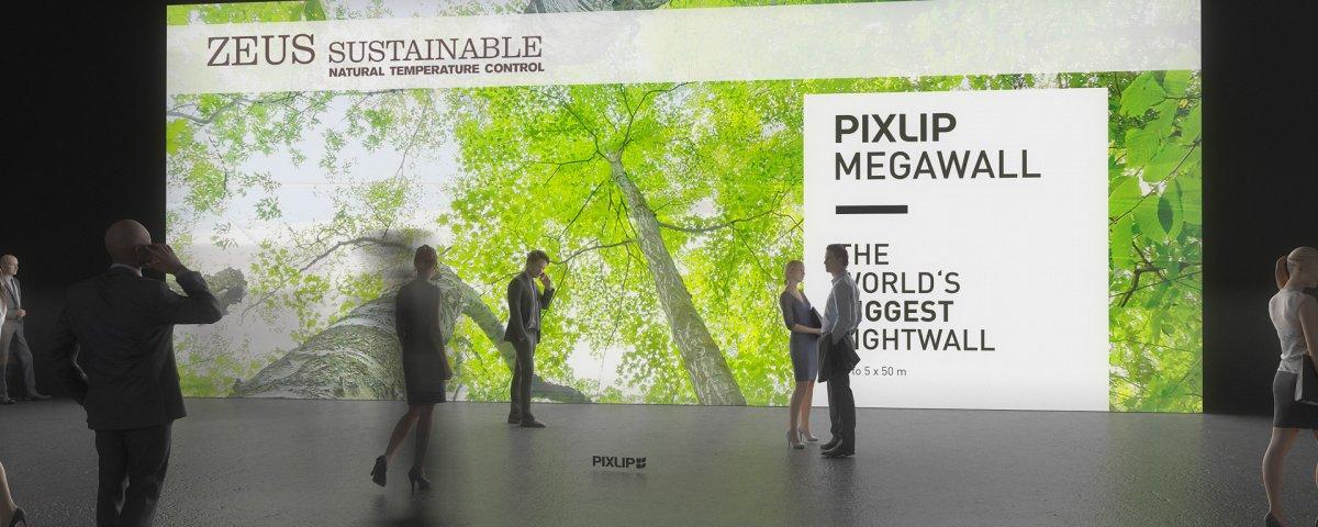 Sistema di pareti luminose, parete gigante, parete luminosa a LED, pareti per fiere, sistema di pareti espositive