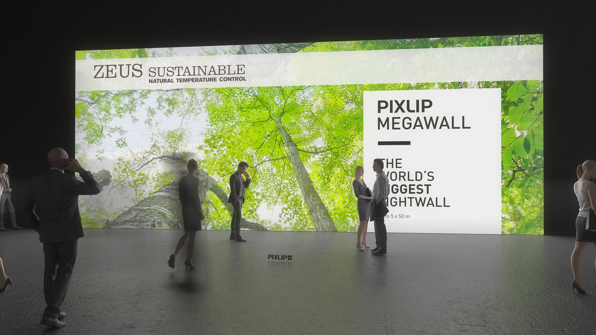 Pareti Fotografie : Sistema di pareti luminose parete gigante parete luminosa a led