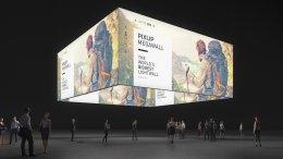 Exposição de anel de teto, Anel de grafismo Anel de tema Stand de feira Sistema da feira Pixlip Exposição