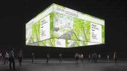 Exposição de banners suspensos retroiluminados, Banner de teto, Anel-grafismo, Exposição-banner, Anel de teto, Caixa de luz-teto, Anel de luz, Anel de tema