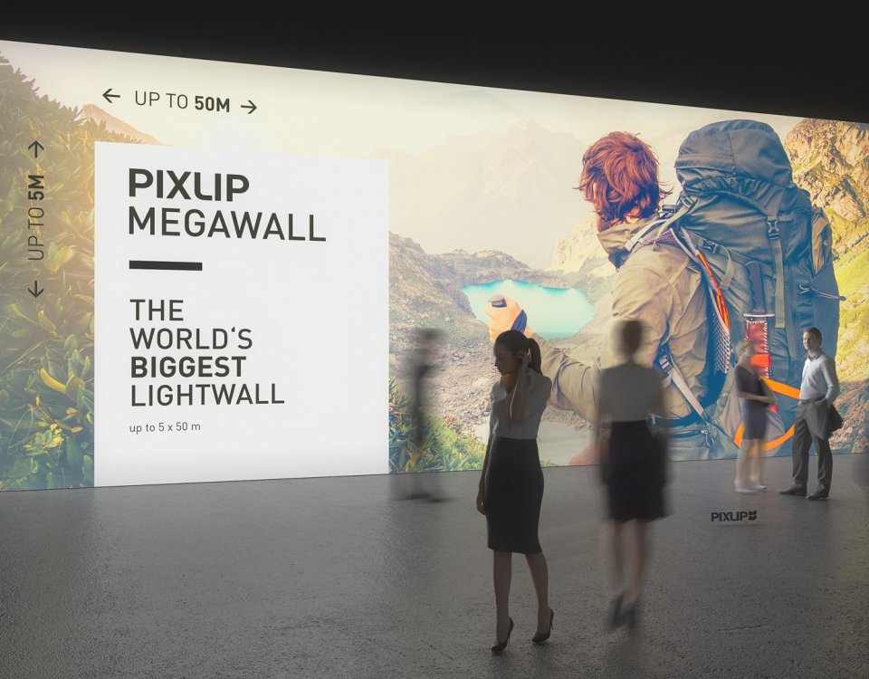 Lightwall, pared luminosa para feria, pared de luz, pared de feria, lightwall, pared de luz LED, pared luminosa, pared de feria, megapared, sistema de pared para feria, sistema de feria, sistema de pared de luz, Pixlip, exposición