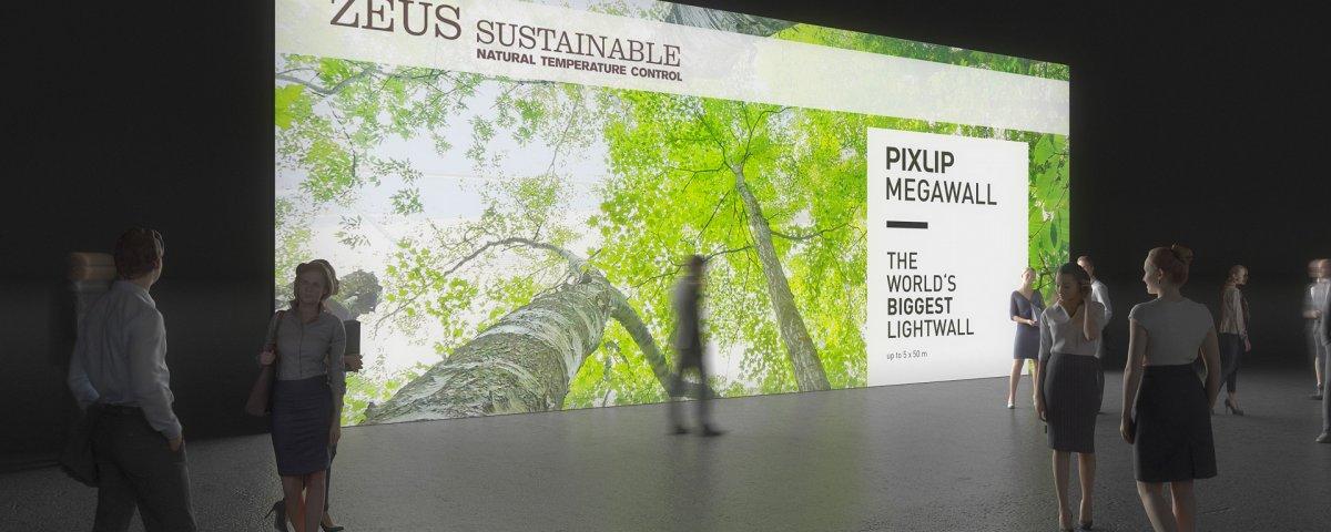 Ljusväggsystem, megaljusvägg, ljusvägg, Mega Wall, LED-display väggsystem, utställning system