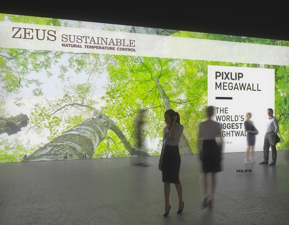 Выставочная световая стена — приманка для глаз к вашему выставочному стенду