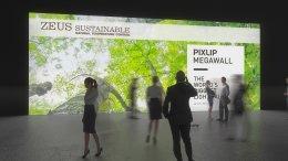 الجدار المُضاء للمعرض