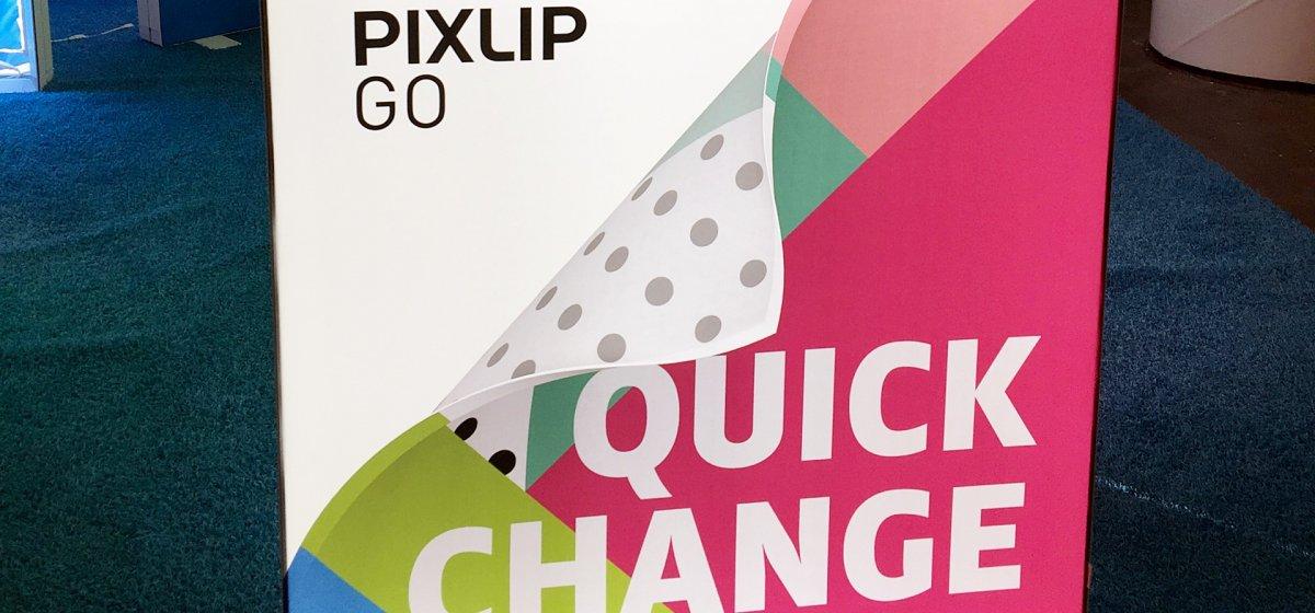 PIXLIP GO vs. Pop-up Display, Pixlip Go