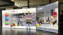 Mobiler Messestand mit LED-Technik, Mobiler Messestand