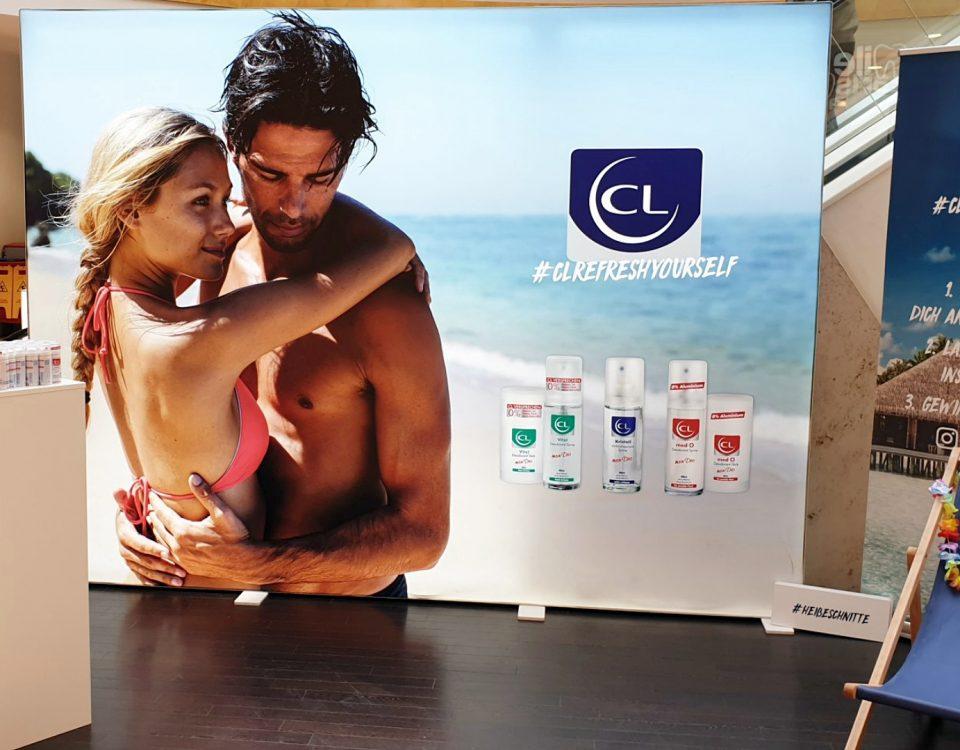 Schöne Promotionwand, Leuchtwand